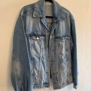 ASOS Denim Blue Jacket boy longline uk 14/M/L 8/10